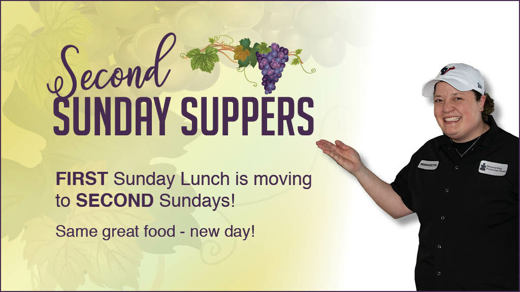 All-Church Lunch - Now on Second Sundays!