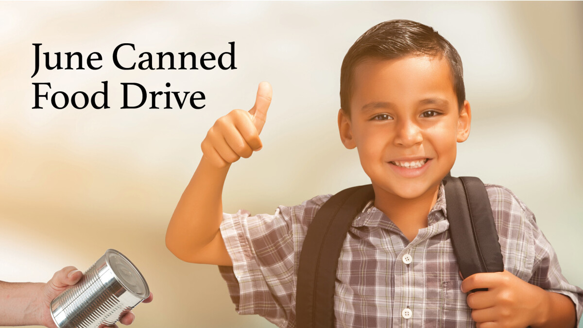 June Canned Food Drive